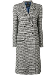 Paul Smith Ps By Midi Buttoned Coat Black