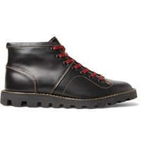 Coach Leather Boxing Boots Black