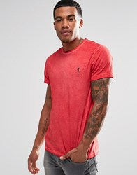 Religion Oil Wash T Shirt Stop Red