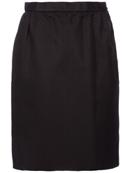 Yves Saint Laurent Vintage Vintage Skirt Black