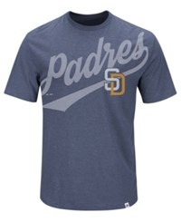 Majestic Men's San Diego Padres Super Script T Shirt Navy