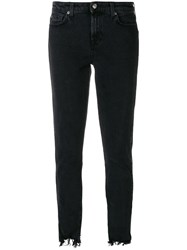7 For All Mankind Jsl4a20ccs Nero Natural Black