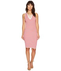 Bishop Young Lace Up Sweater Dress Red White Stripe Women's Dress