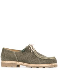Paraboot Michael Canvas Shoes Green