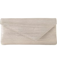 Lk Bennett Leonie Lizard Print Leather Clutch Cre Metallic Cream