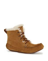 Ugg Chickaree Suede And Sheepskin Ankle Boots