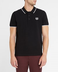 Kenzo Black Shades Patch White Trim Polo Shirt