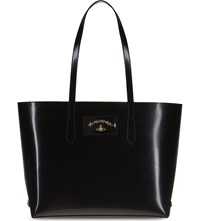 Vivienne Westwood Anglomania Newcastle Large Leather Shopper Black