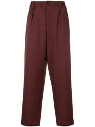Marni Casual Trousers Red