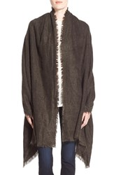 Women's Free People 'Koda' Brushed Scarf Grey Shark
