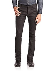 The Kooples Waxed Stretch Cotton Jeans Black