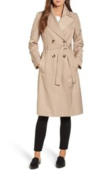 Via Spiga 'S Double Breasted Trench Coat Sand