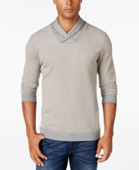 Tasso Elba Men's Shawl Collar Sweater Only At Macy's Cloudy Heather