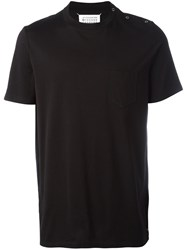 Maison Martin Margiela Snap Button Closure T Shirt Black