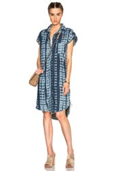 Nsf Sina Dress In Ombre And Tie Dye Blue