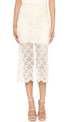 Alice Olivia Khiara Sheer Pencil Skirt Natural
