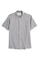 Men's Patrik Ervell 'Midcentury' Mini Check Woven Shirt Nordstrom Exclusive