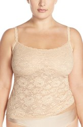 Plus Size Women's Cosabella 'Never Say Never' Lace Front Camisole Blush