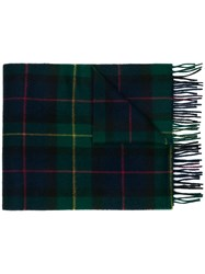 Church's Check Pattern Wide Scarf Green