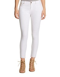 Jessica Simpson Star Textured Skinny Fit Cropped Pants Star White