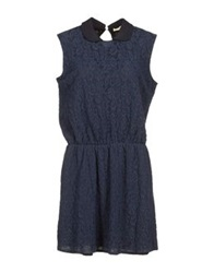 M.Grifoni Denim Short Dresses Brown