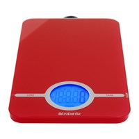 Brabantia Digital Kitchen Scales Red