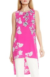 Women's Vince Camuto Floral Print High Low Tunic Pop Pink