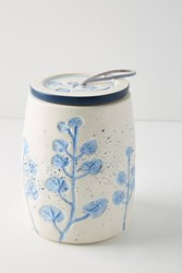 Anthropologie Alexi Canister Blue Motif