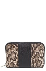 Alexander Wang Women's Mini Compact Zip Wallet Brown Teak