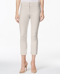 Charter Club Straight Leg Cropped Pants Sand