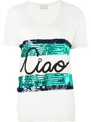 Lanvin Ciao Print T Shirt Nude And Neutrals