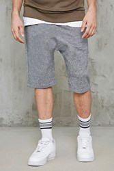 Forever 21 Marled Knit Drop Crotch Shorts Heather Grey