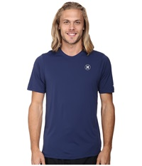 Hurley Dri Fit Icon S S Surf Shirt Midnight Navy Men's Swimwear Blue