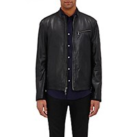 John Varvatos Star U.S.A. Men's Cafe Racer Jacket Black Blue Black Blue