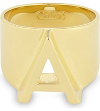 Chloe Alphabet A Ring Gold