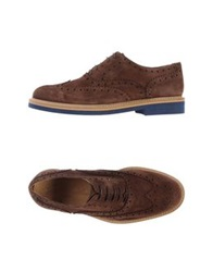 Gold Brothers Lace Up Shoes Cocoa