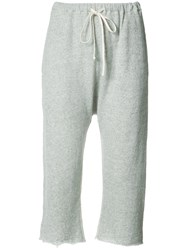 R 13 R13 Cropped Track Trousers Grey