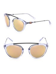Westward Leaning Flower 14 51Mm Mirrored Aviator Sunglasses Ice