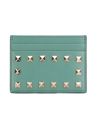 Valentino Garavani 'Rockstud' Card Holder Blue