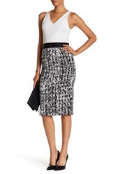 Milly Cady Scribble Print Pencil Skirt Gray