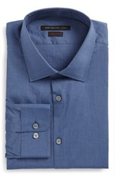 John Varvatos Men's Big And Tall Star Usa Regular Fit Stretch Dobby Dress Shirt Atlantic Blue