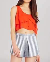 Bcbgeneration Top Flowing Button Front Crop