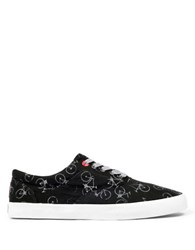 Bucketfeet Bicycle Print Canvas Sneakers Black