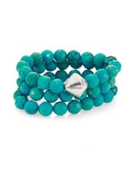 Nest Turquoise Beaded Stretch Bracelet Set