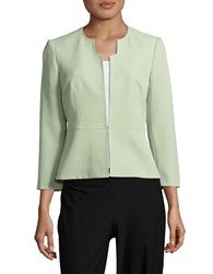 Nipon Boutique Plus Peplum Blazer Green