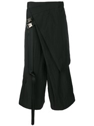 D.Gnak Asymmetric Design Trousers Black