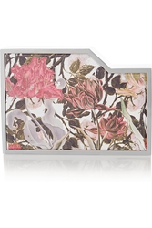 Lee Savage Negative Space Printed Leather And Silver Tone Box Clutch