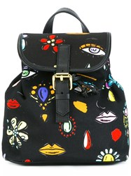 Boutique Moschino Canvas Mini Backpack Black