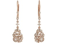 Zoe Mixed Diamond And Rose Gold Drop Earrings No Color