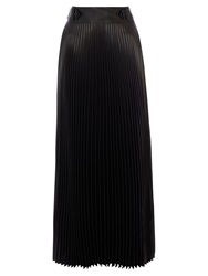 Karen Millen Pleat Maxi Skirt Black